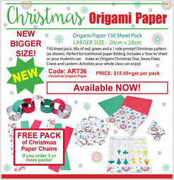 Christmas Origami Paper