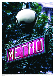 Art Deco sign for the Metro