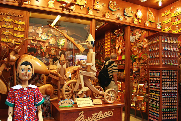 Bartoluccis  Pinocchio  and Wooden Souvenirs, Italy.